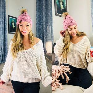 POL Almond Knit Chunky Sweater